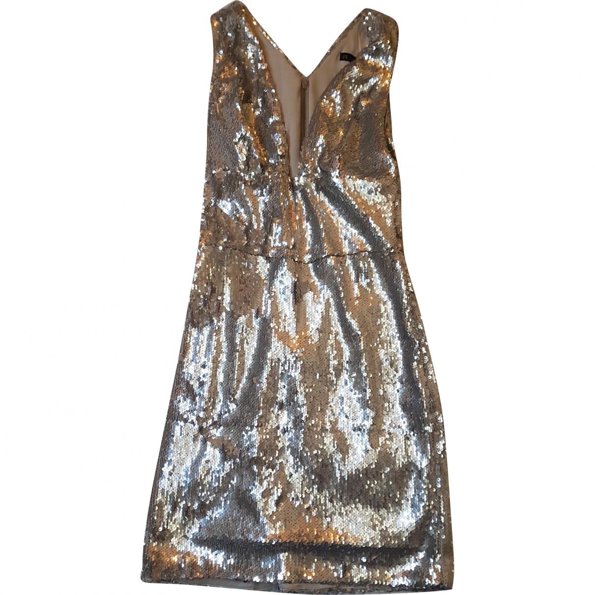 Zara - Robe   pour femme en a paillettes - argente