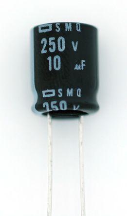 Nippon Chemi-Con 10μF Electrolytic Capacitor 400V dc, Through Hole - ESMQ401ELL100MJ16S (200)