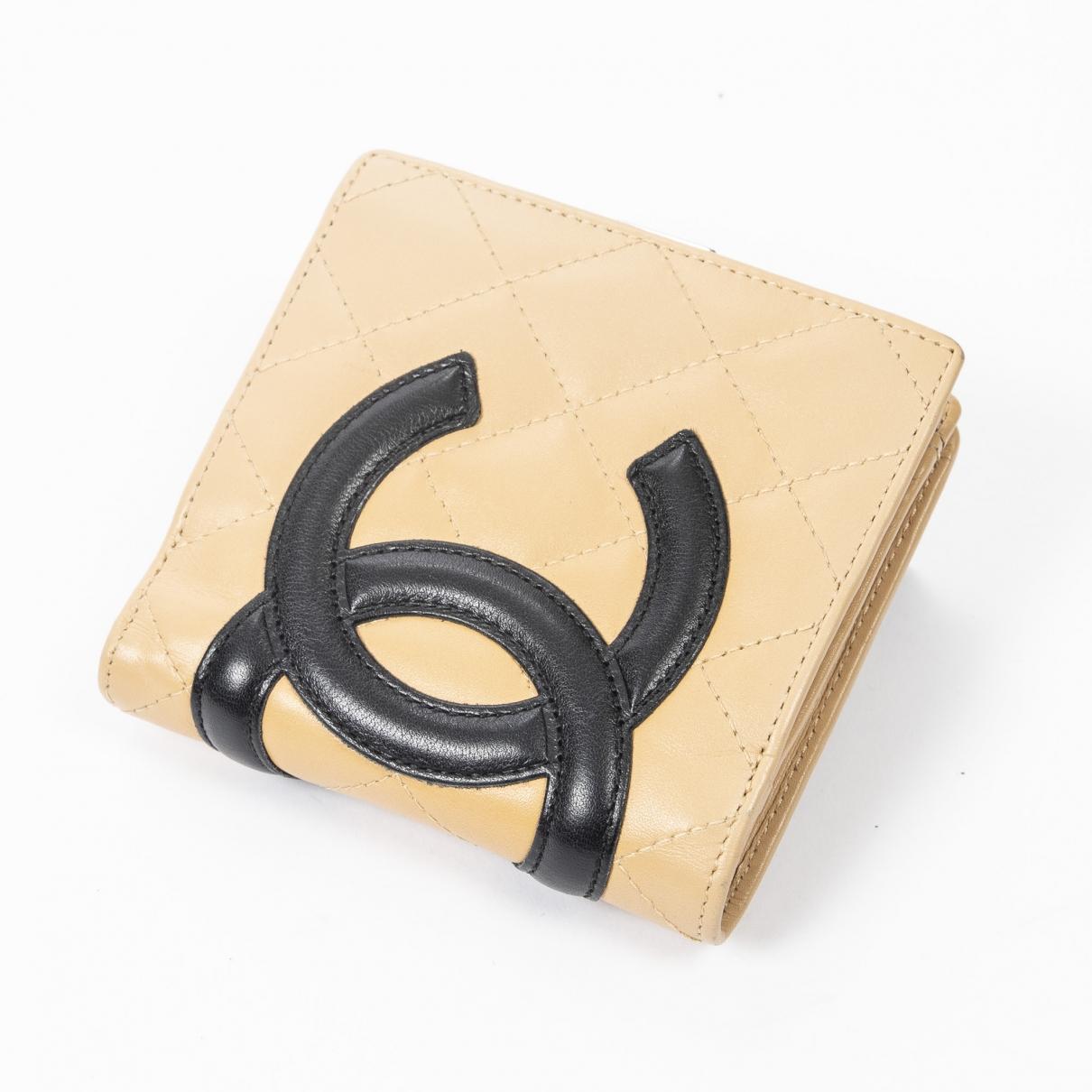Chanel \N Beige Leather wallet for Women \N