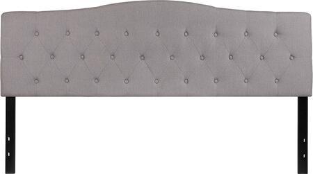 HG-HB1708-K-LG-GG Cambridge Tufted Upholstered King Size Headboard in Light Gray