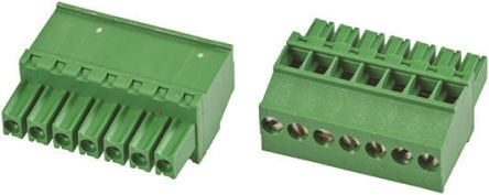 TE Connectivity Non-Fused Terminal Block, 8 Way/Pole, Screw Down Terminals, 30 → 14 AWG Cable Mount, Nylon, 300 V