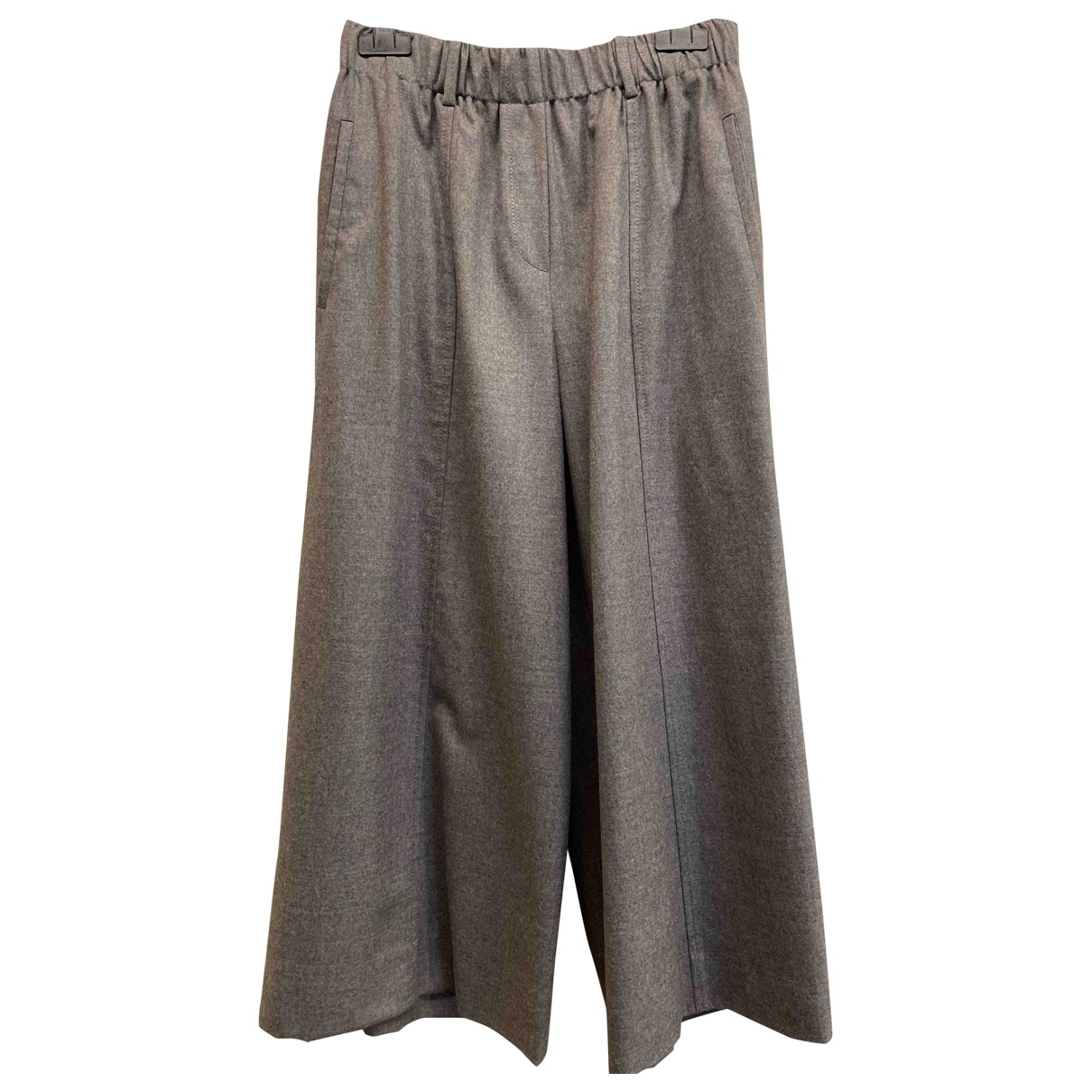 Incotex \N Grey Wool Trousers for Women 42 IT