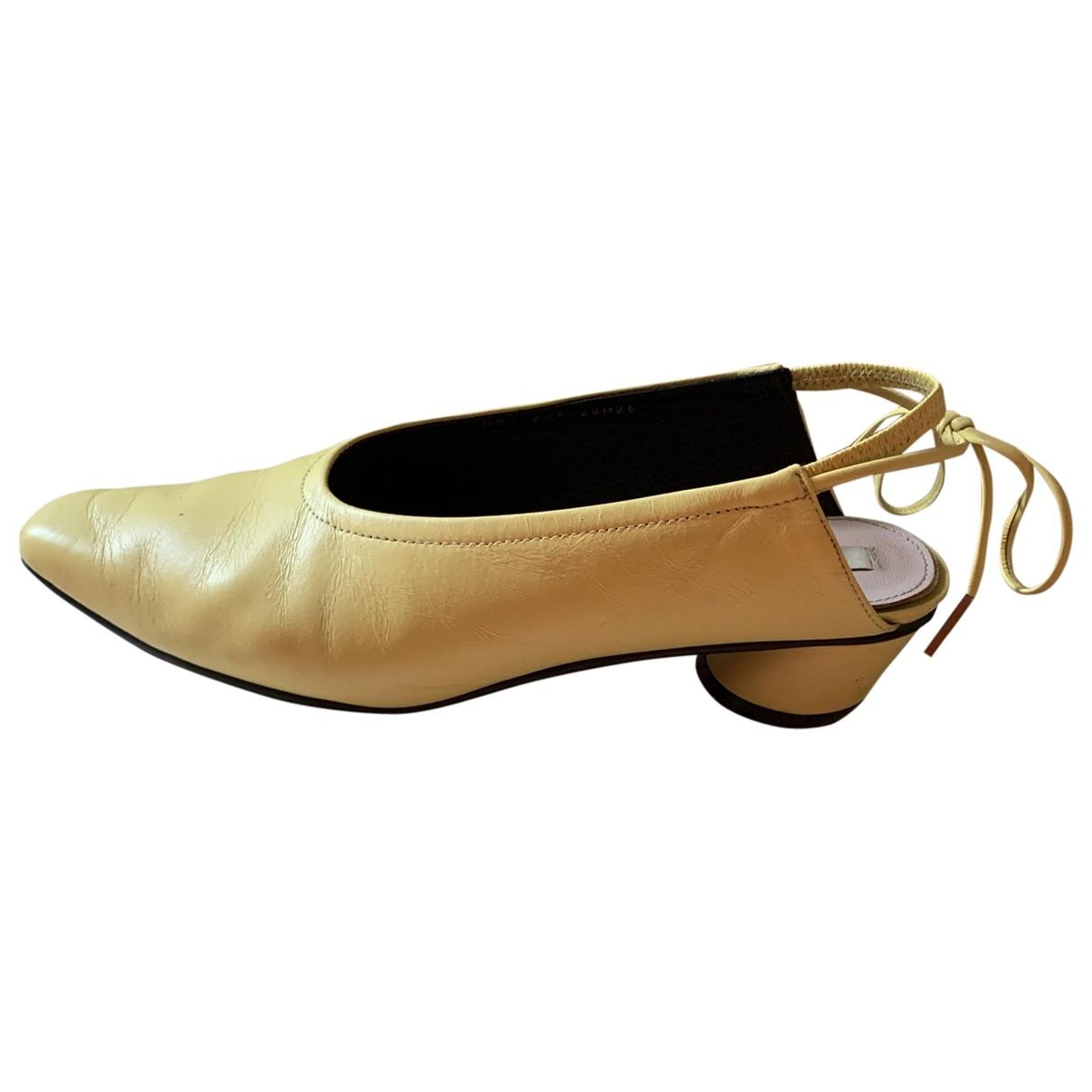 Reike Nen \N Sandalen in  Gelb Leder