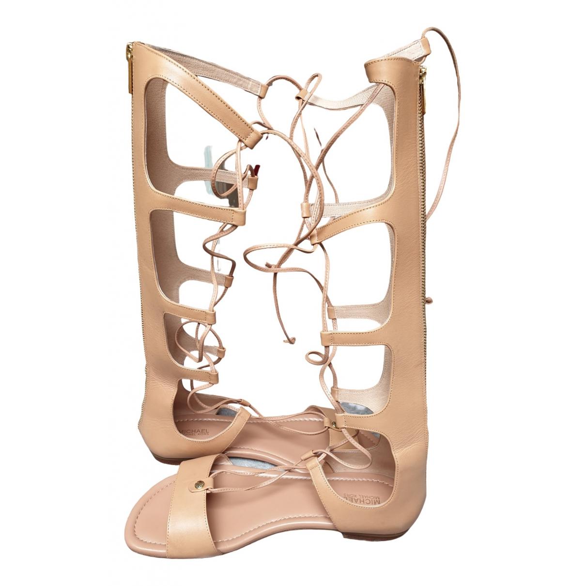Michael Kors \N Beige Leather Sandals for Women 41 EU