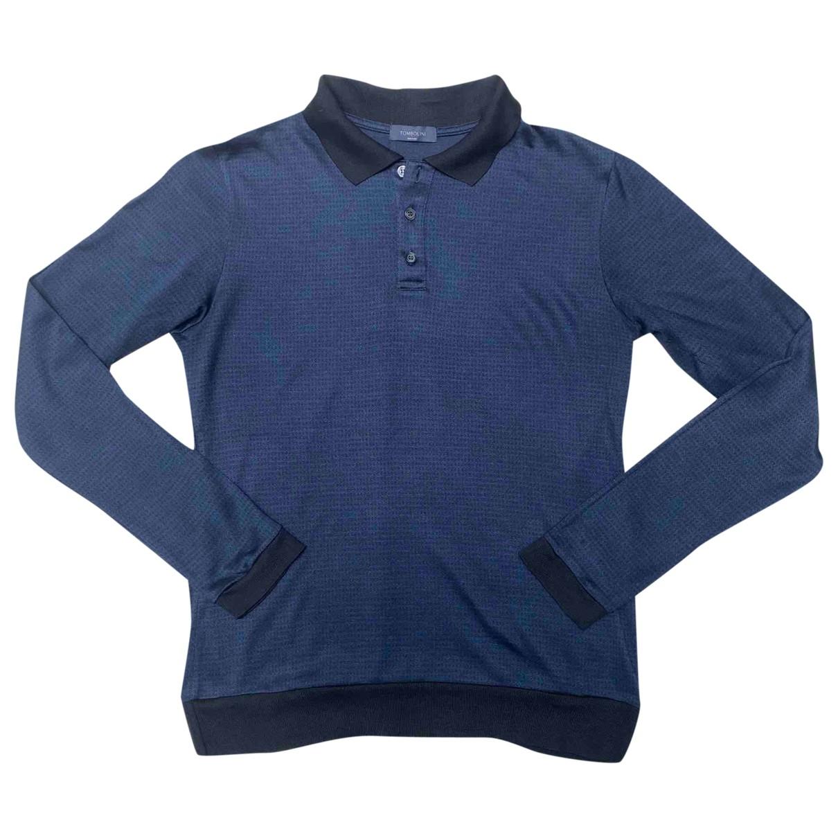 Tombolini - Chemises   pour homme en soie - bleu