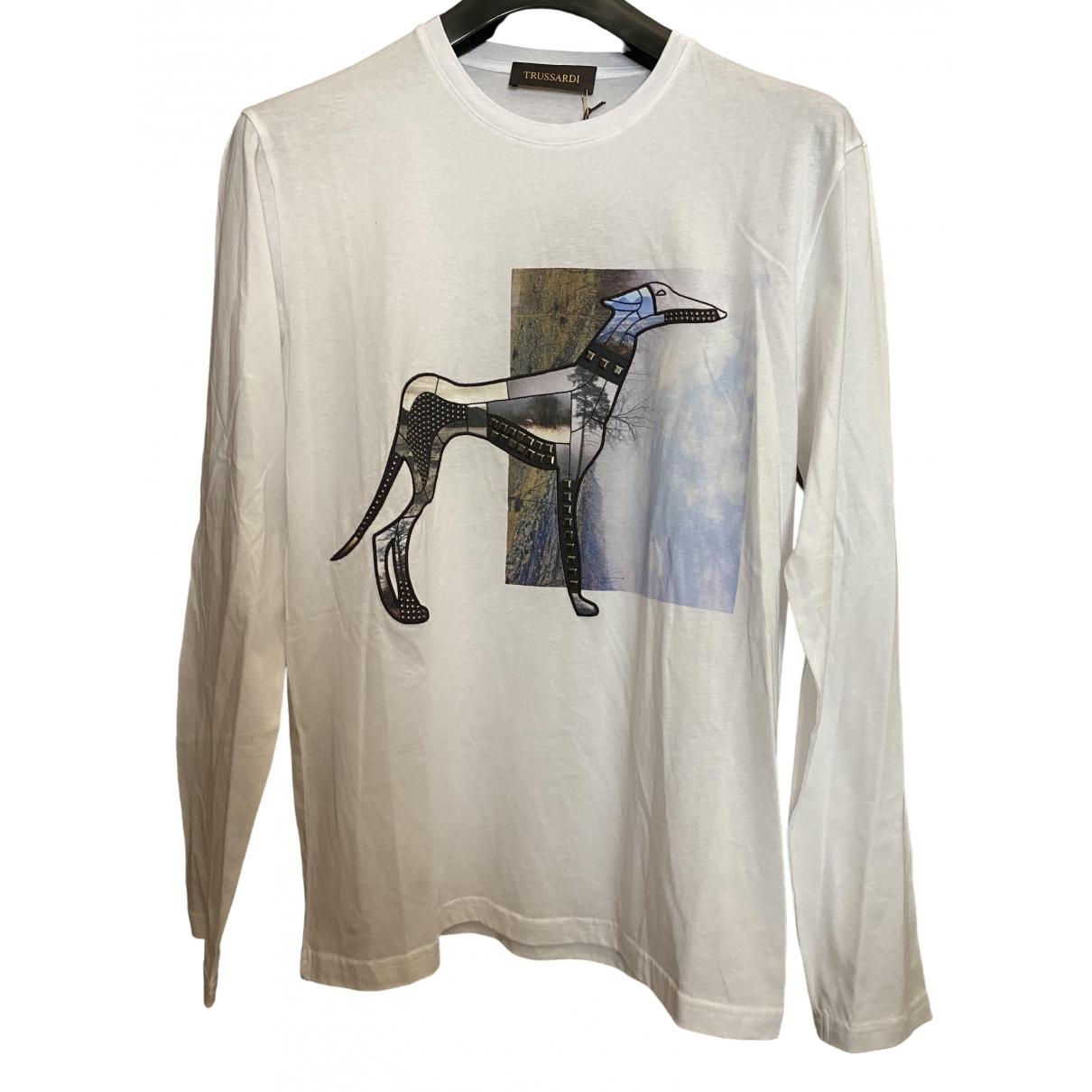 Trussardi - Tee shirts   pour homme en coton - blanc