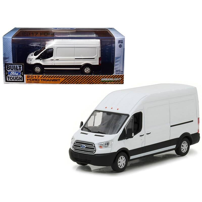 2017 Ford Transit LWB High Roof Oxford White 1/43 Diecast Model Car by Greenlight