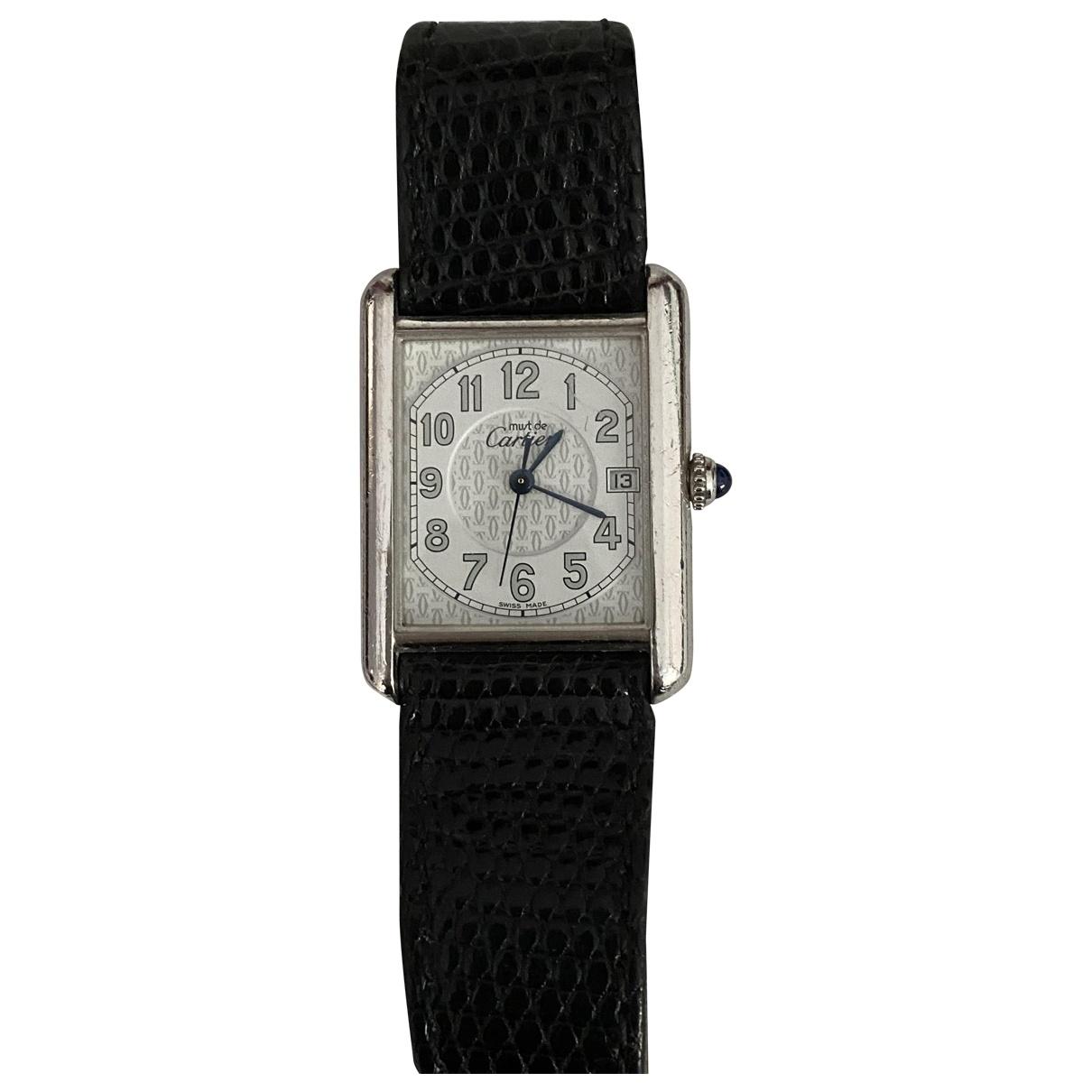 Cartier Must 21 Uhr in  Weiss Silber