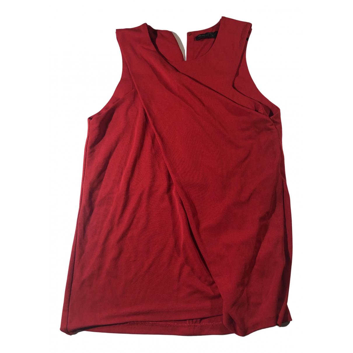 Massimo Dutti - Top   pour femme - rouge