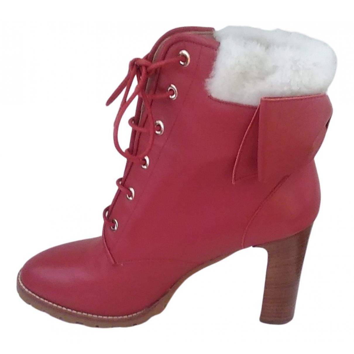 Botas con cordones de Cuero Red Valentino Garavani