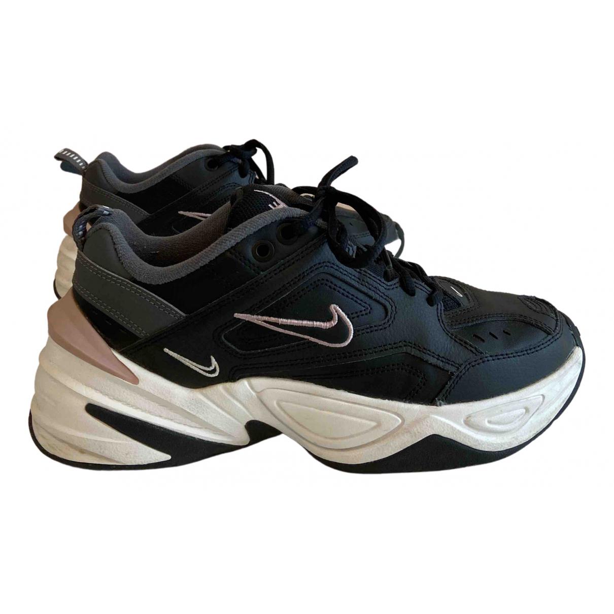 Nike \N Sneakers in  Schwarz Leder