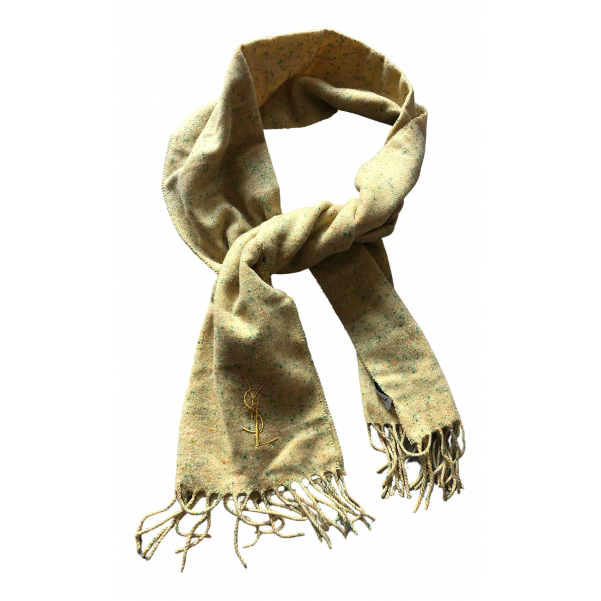 Yves Saint Laurent \N Yellow Cashmere scarf for Women \N