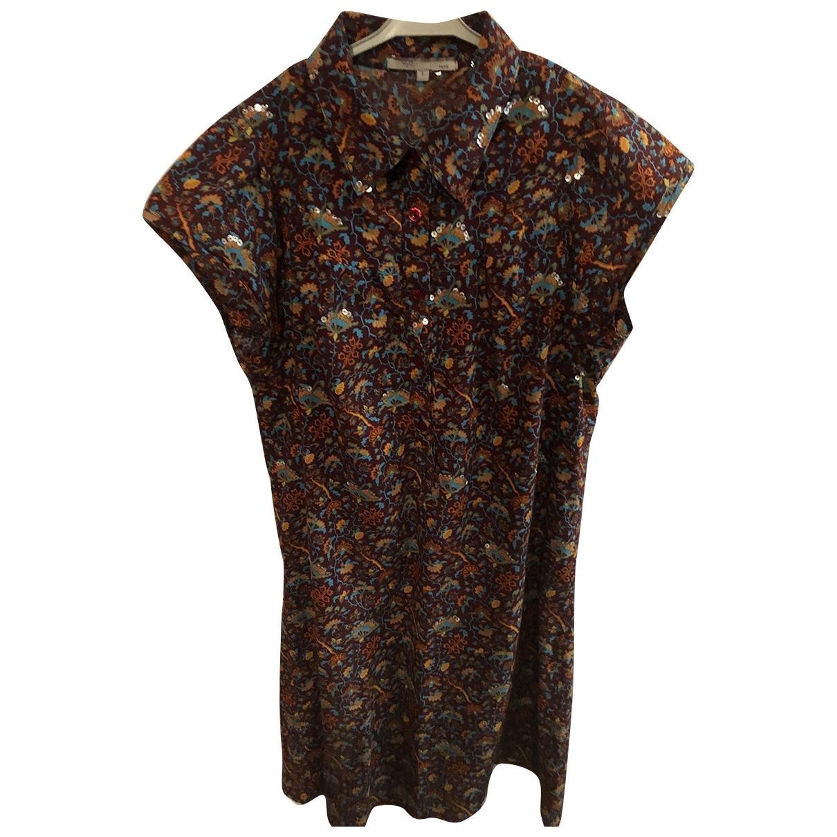 Maje \N Kleid in  Braun Mit Pailletten