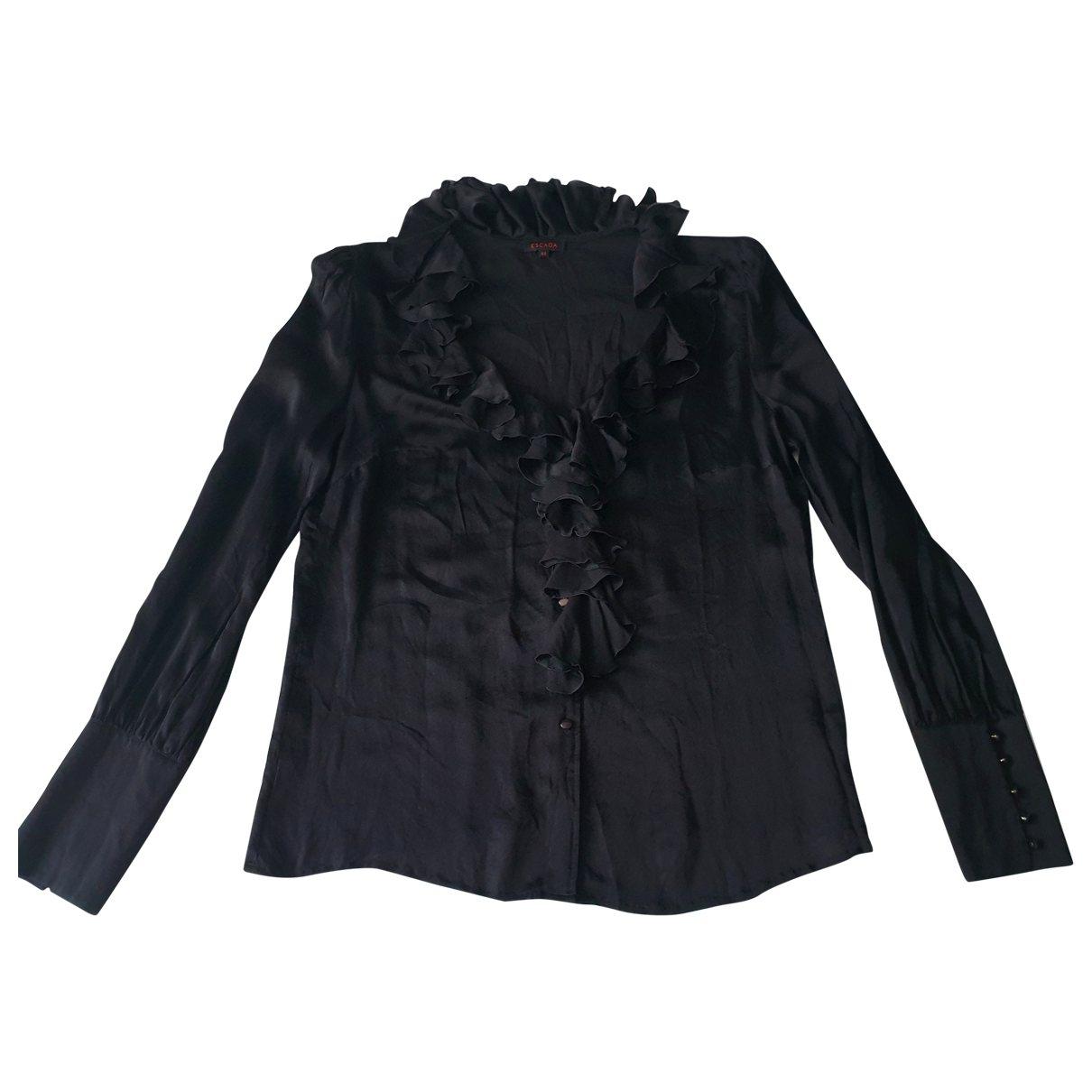Escada \N Black Silk  top for Women 44 FR