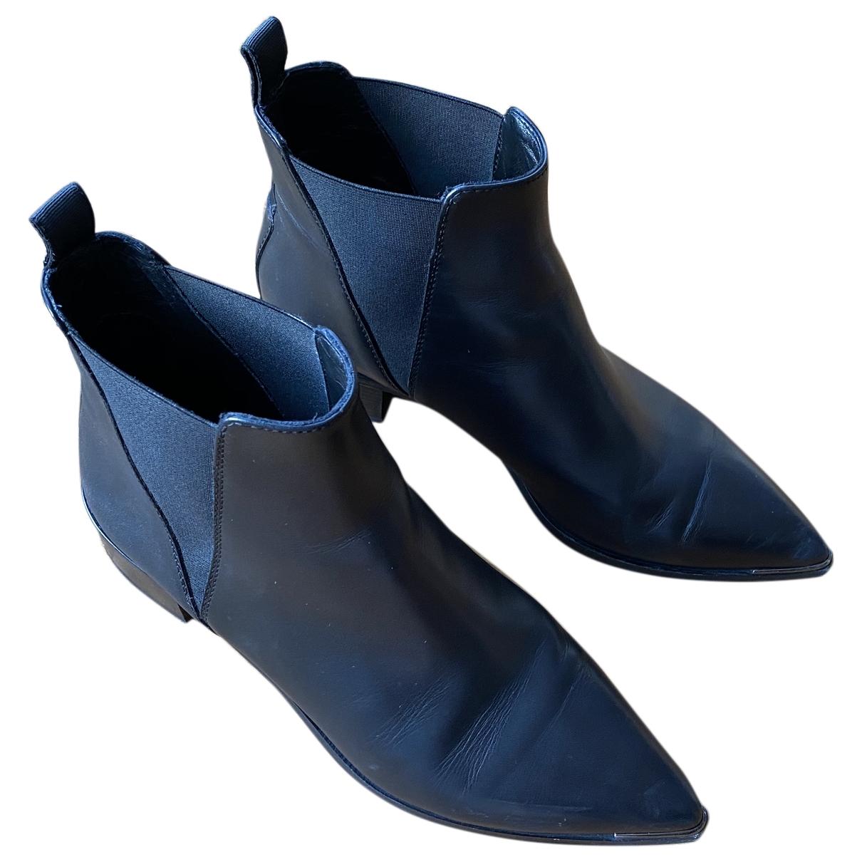 Acne Studios Jensen / Jenny Black Leather Ankle boots for Women 38 EU