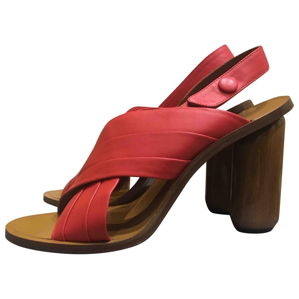 Mulberry - Sandales   pour femme en cuir - rouge