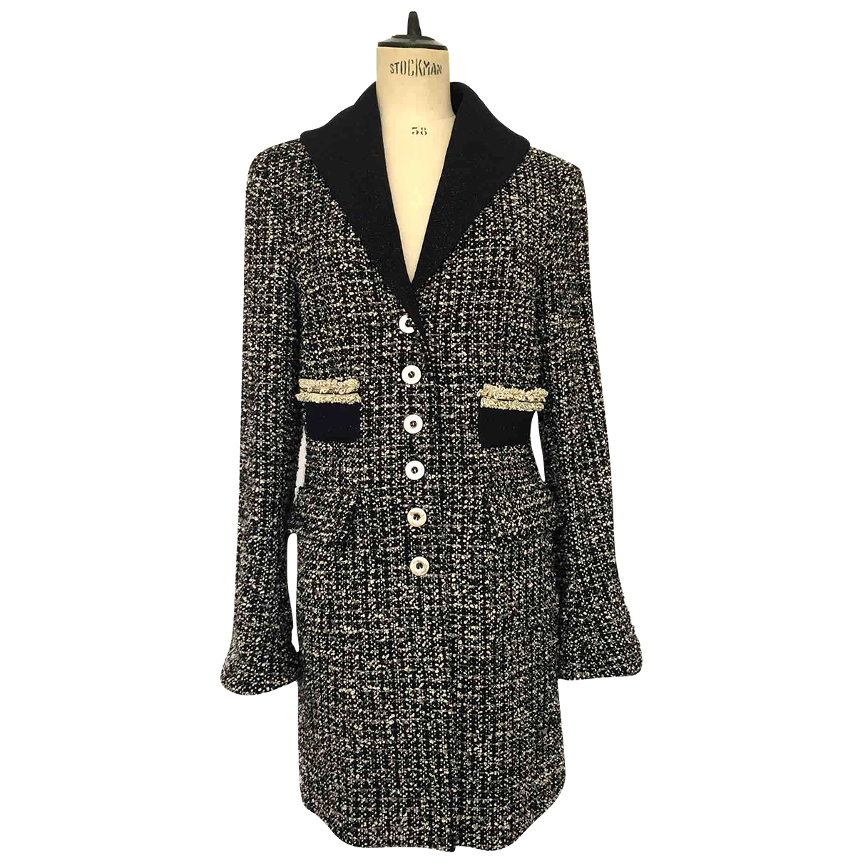 Non Signé / Unsigned \N Blue Wool coat for Women S International