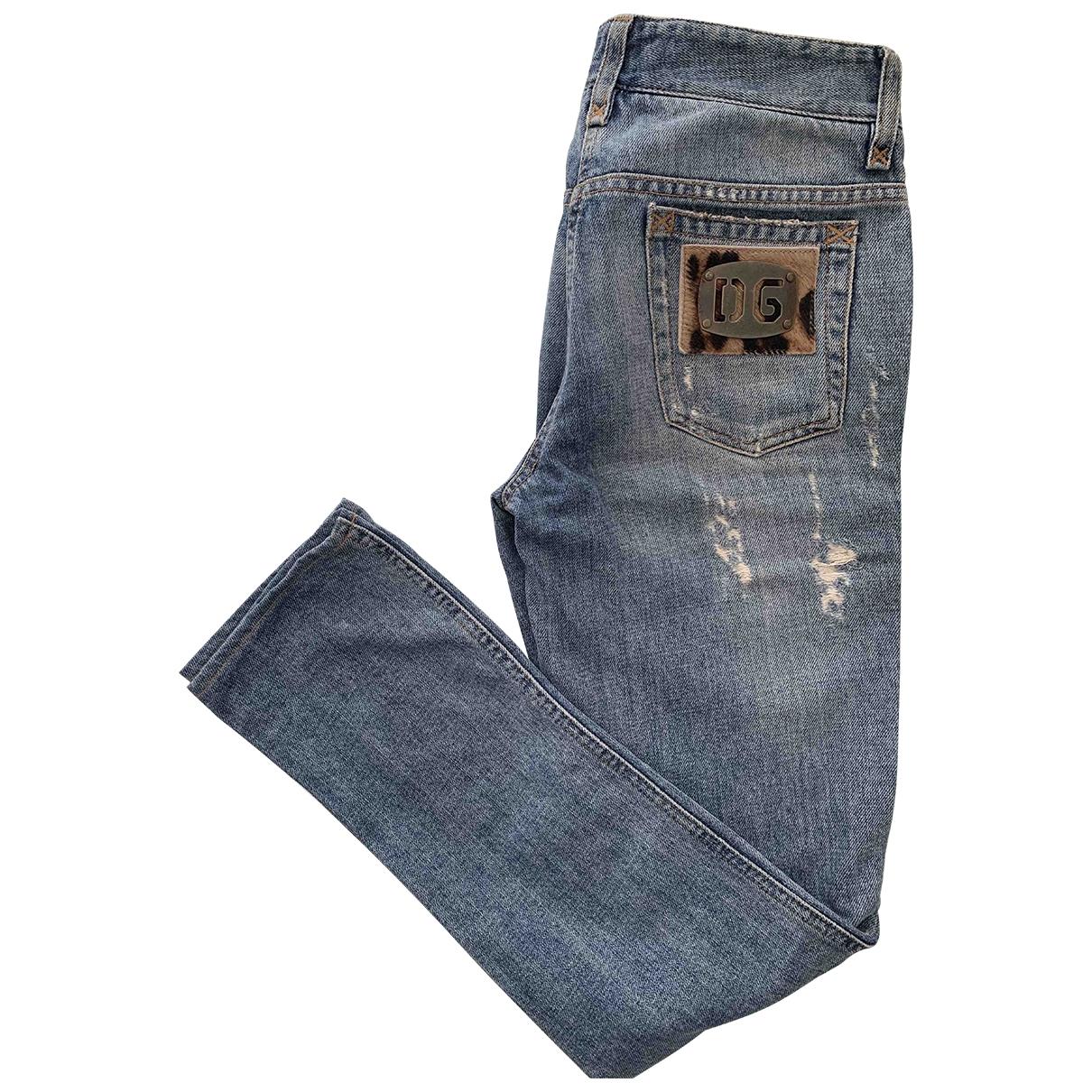 Dolce & Gabbana \N Blue Denim - Jeans Jeans for Women 36 FR