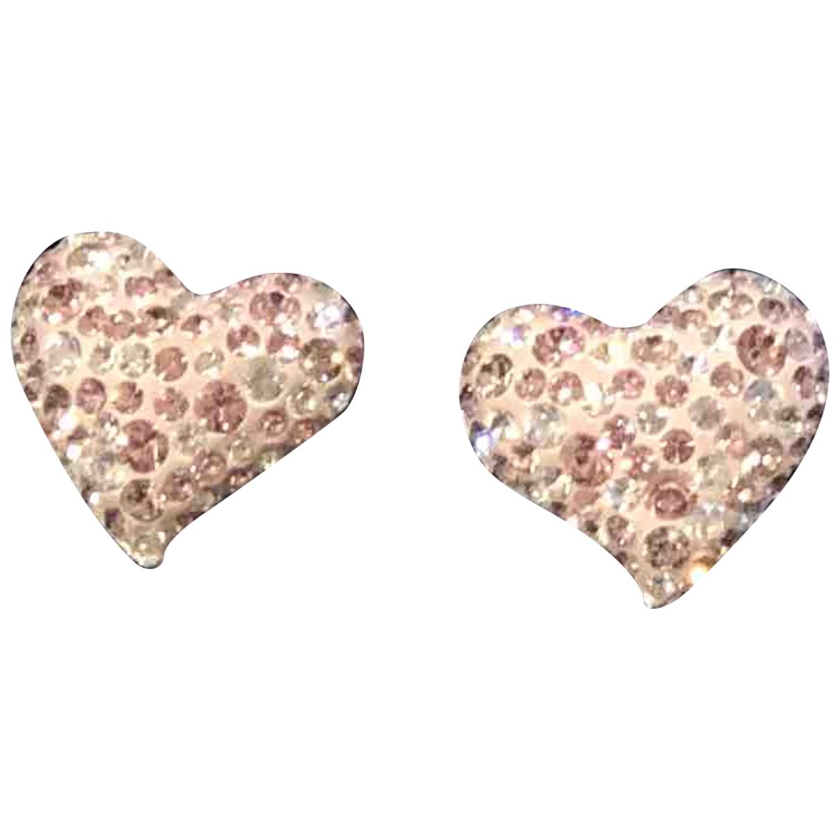 Swarovski - Boucles doreilles   pour femme en argent - rose