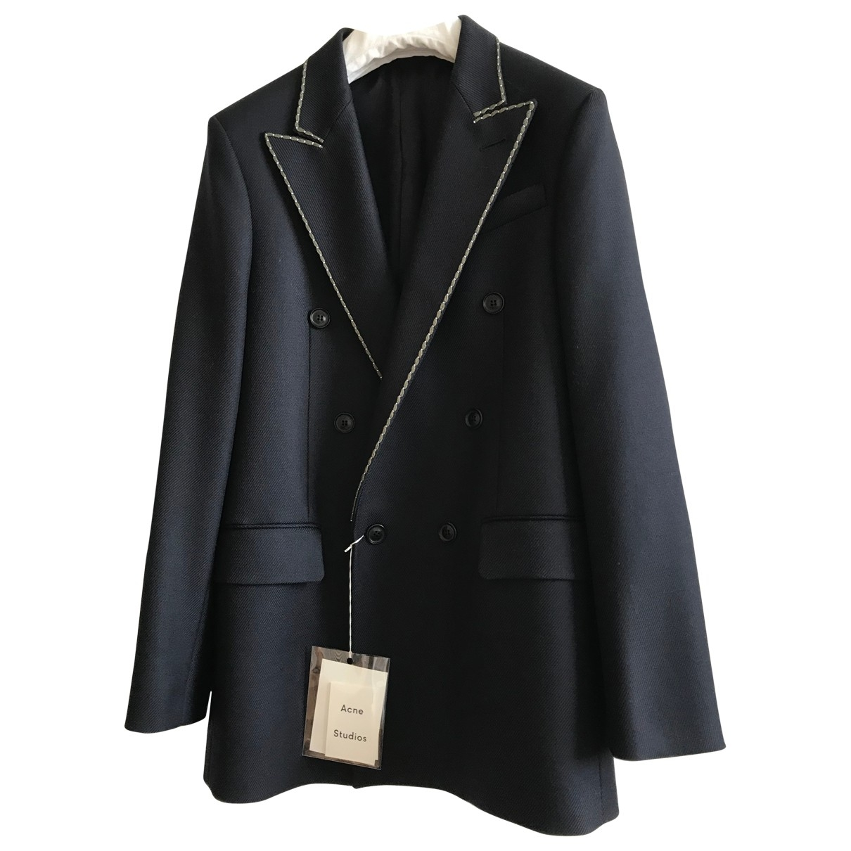 Acne Studios \N Navy Wool jacket  for Men 46 FR