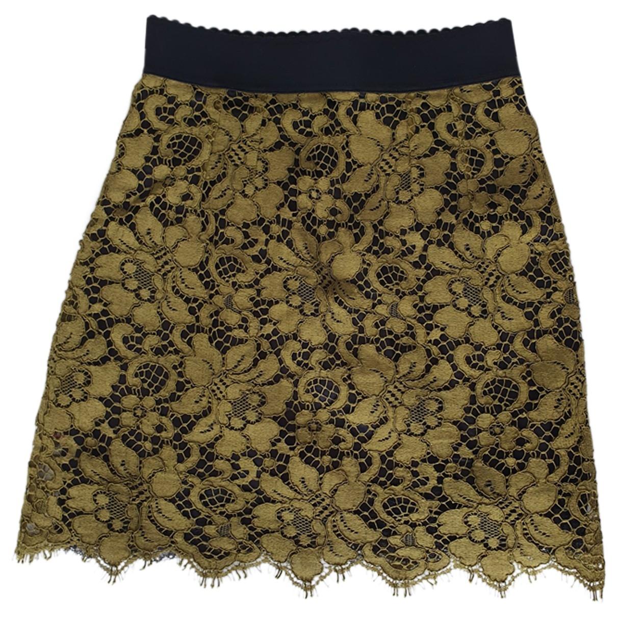 Dolce & Gabbana \N Khaki Cotton skirt for Women 40 FR