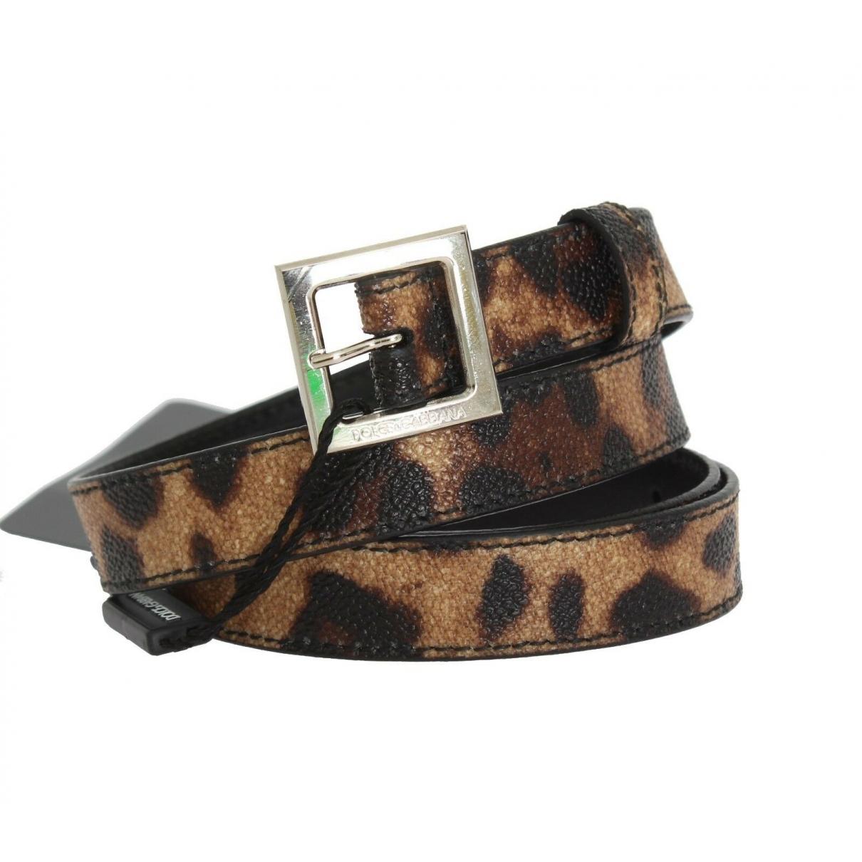 Dolce & Gabbana \N Brown Cloth belt for Women 90 cm