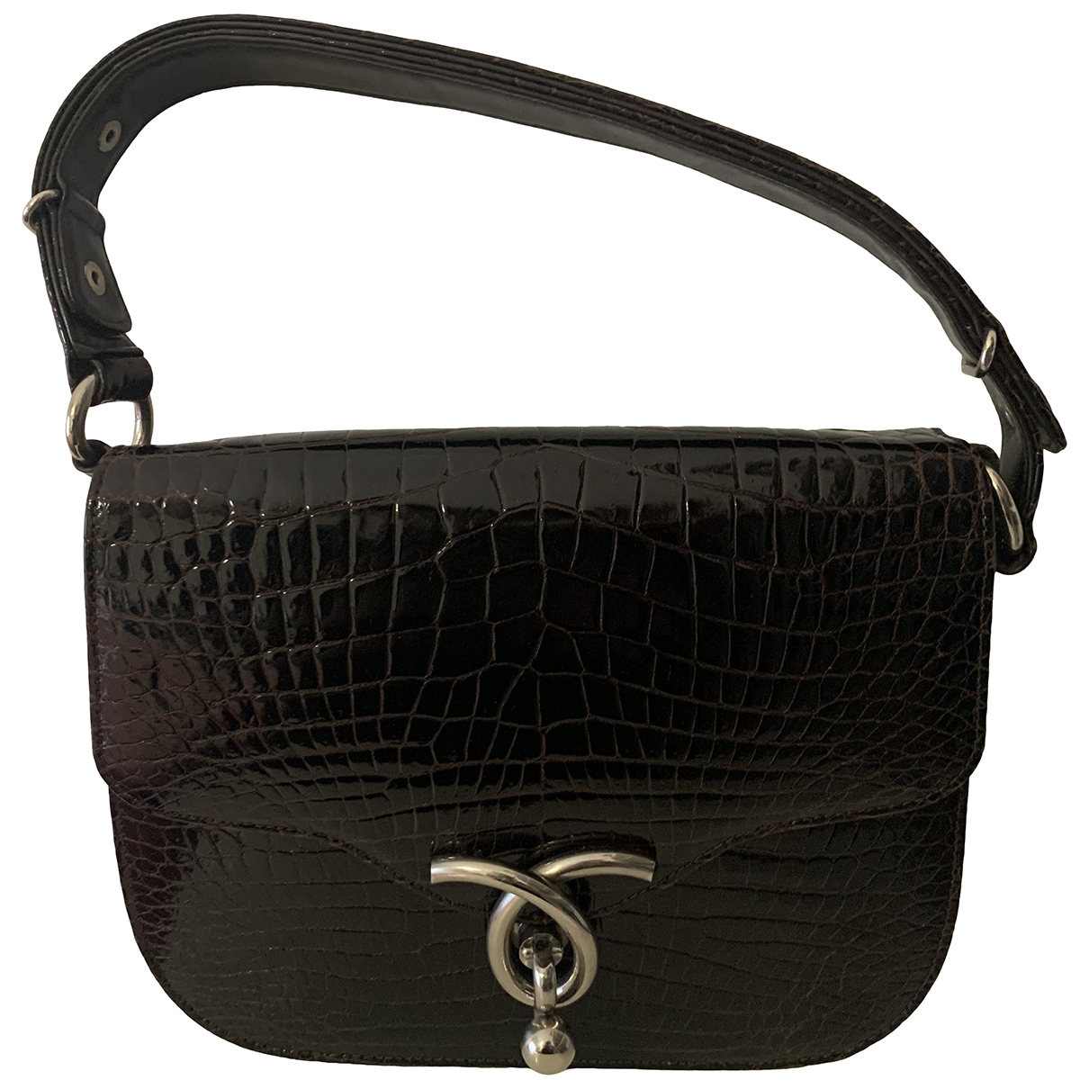 Non Signé / Unsigned \N Brown Alligator handbag for Women \N