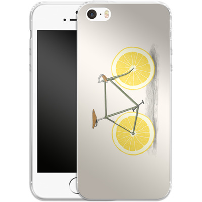 Apple iPhone 5s Silikon Handyhuelle - Zest von Florent Bodart