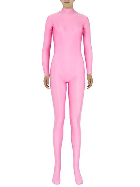 Milanoo Disfraz Halloween Delgado rosa Zentai ajuste traje de Spandex para mujeres Halloween
