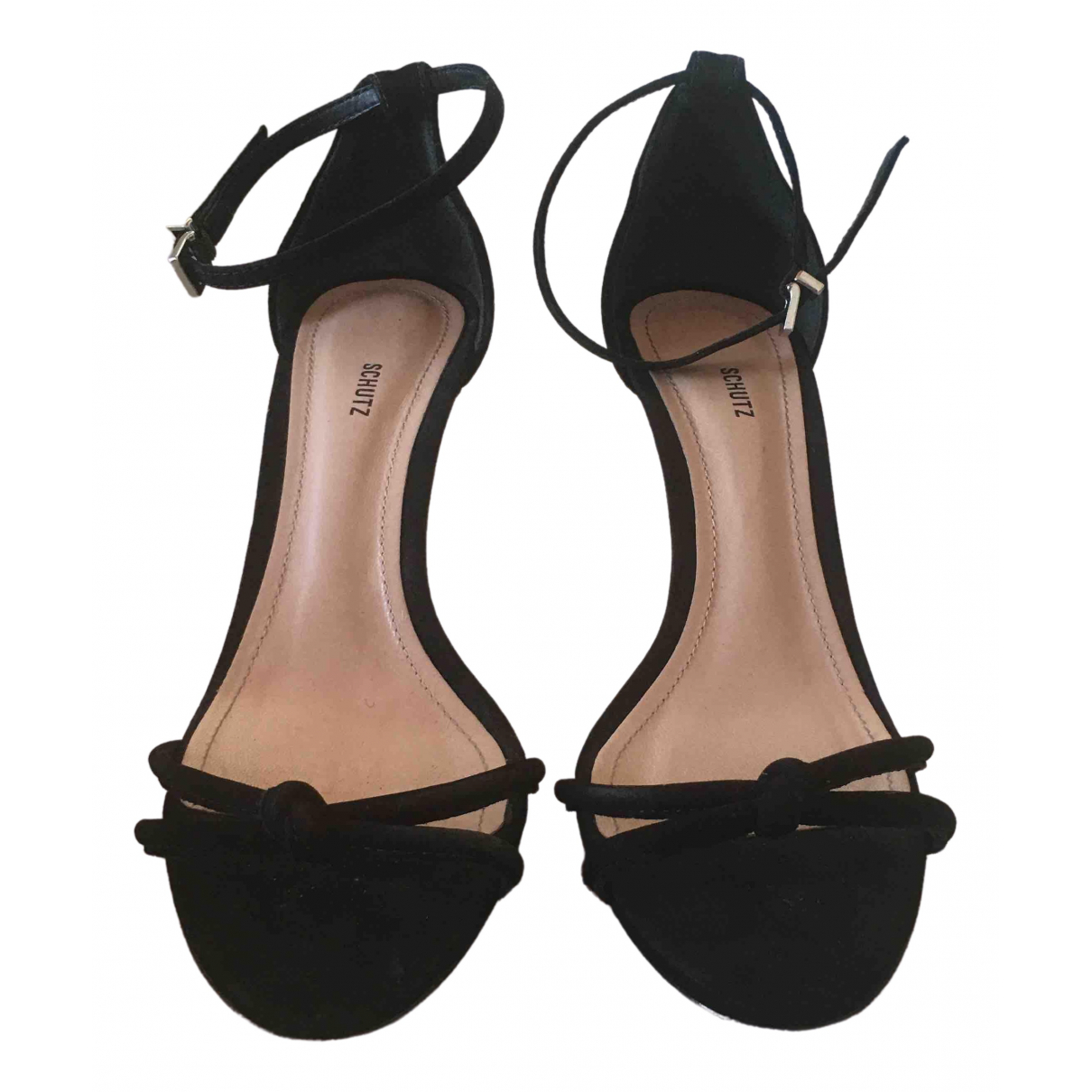 Schutz \N Black Suede Sandals for Women 7.5 US
