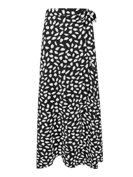 Milanoo Women Wrap Skirt Printed Summer Long Skirt