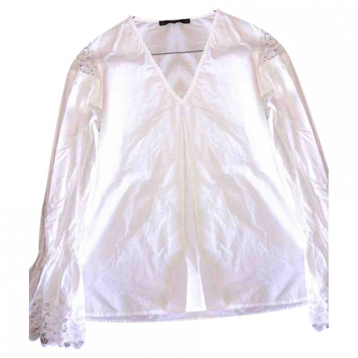 Zara \N White Cotton  top for Women 36 FR