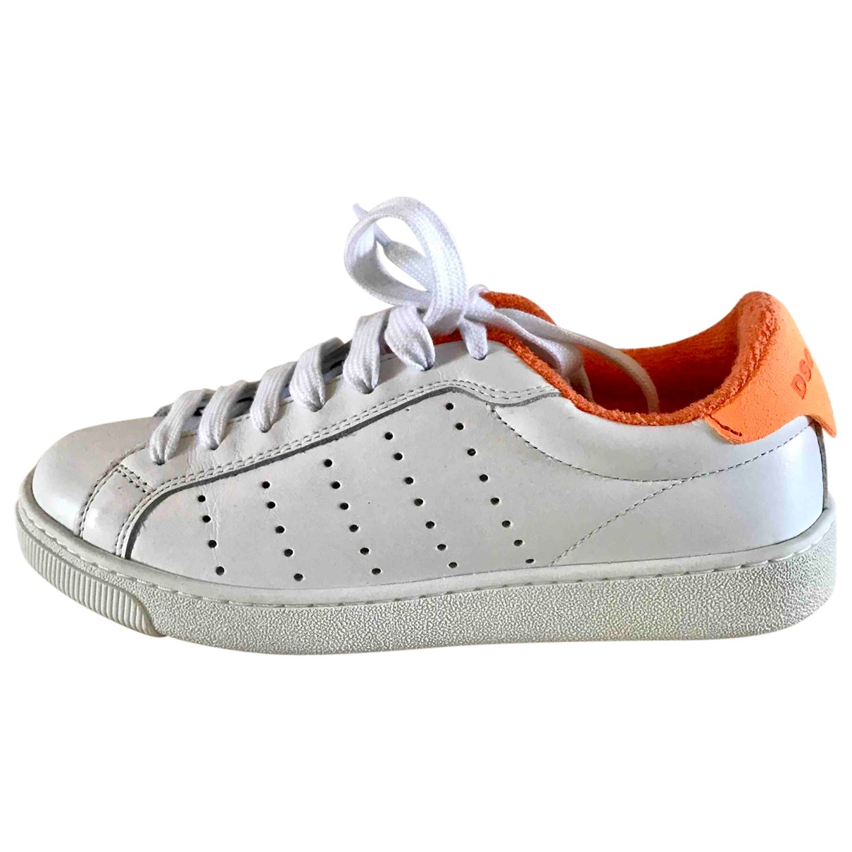 Dsquared2 \N White Leather Trainers for Women 36 EU