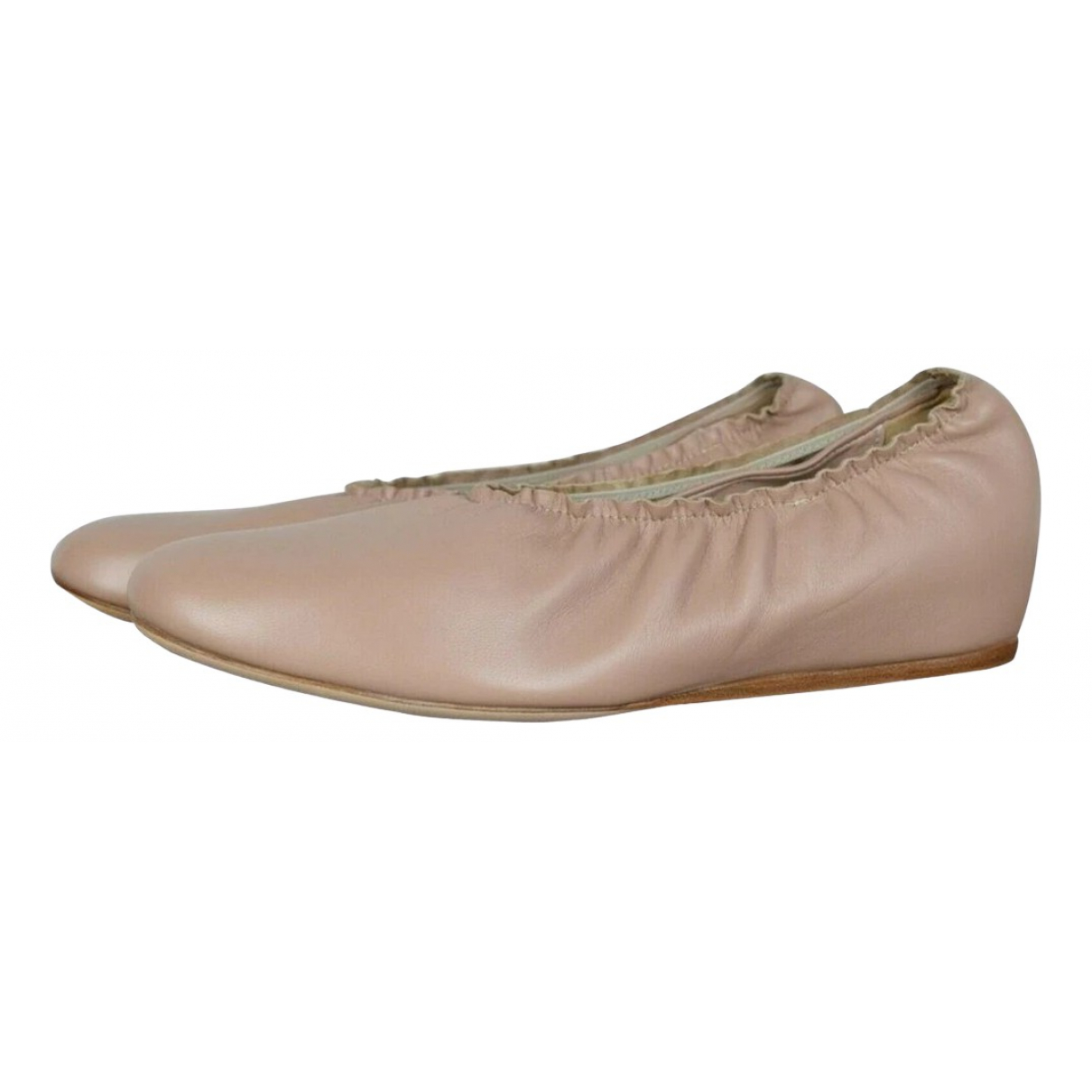 Lanvin \N Ballerinas in  Beige Leder