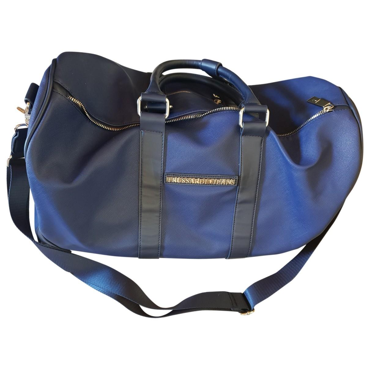 Trussardi Jeans \N Blue Patent leather bag for Men \N