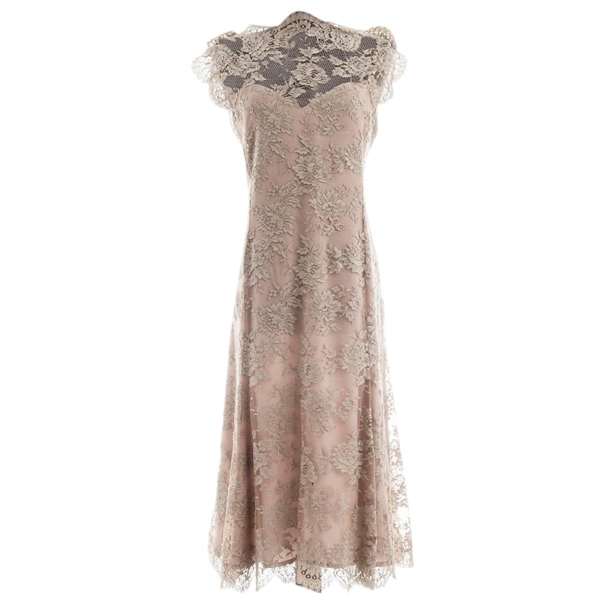 Chloe \N Kleid in  Beige Spitze