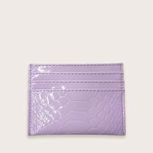 Funda de tarjeta monedero con diseño de cocodrilo