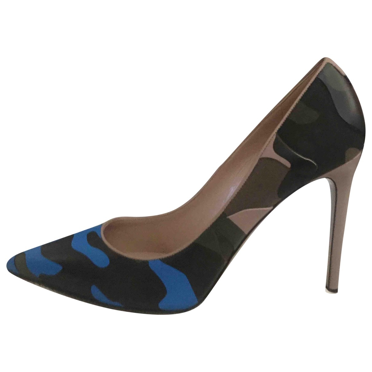 Valentino Garavani Rockstud Multicolour Leather Heels for Women 39 EU