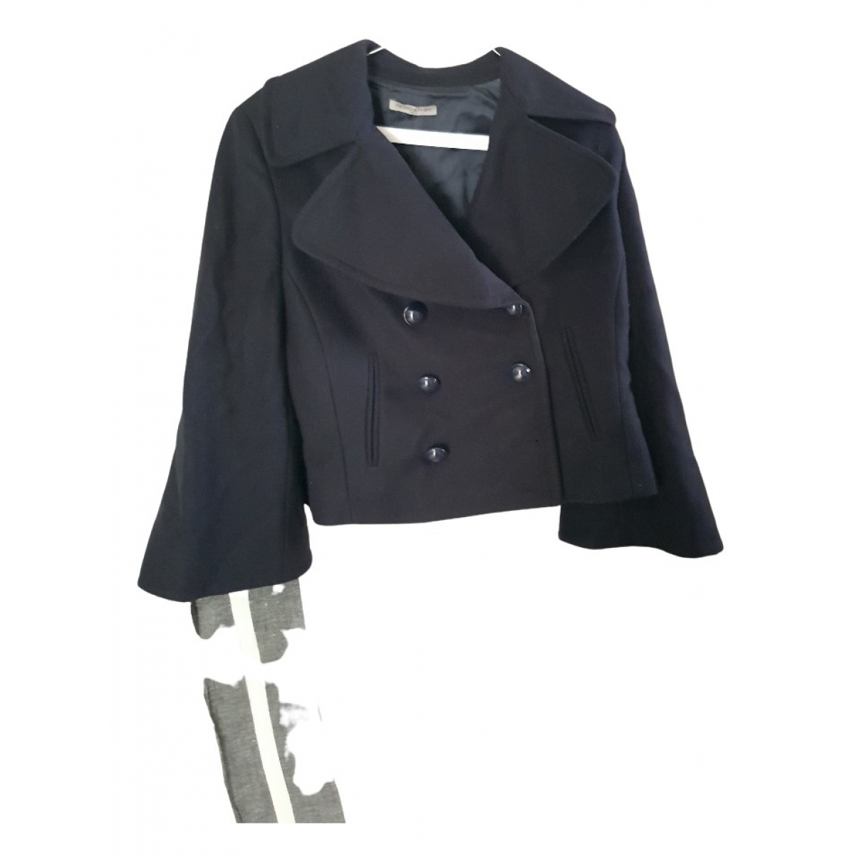 Non Signé / Unsigned N Blue Wool jacket for Women 44 IT