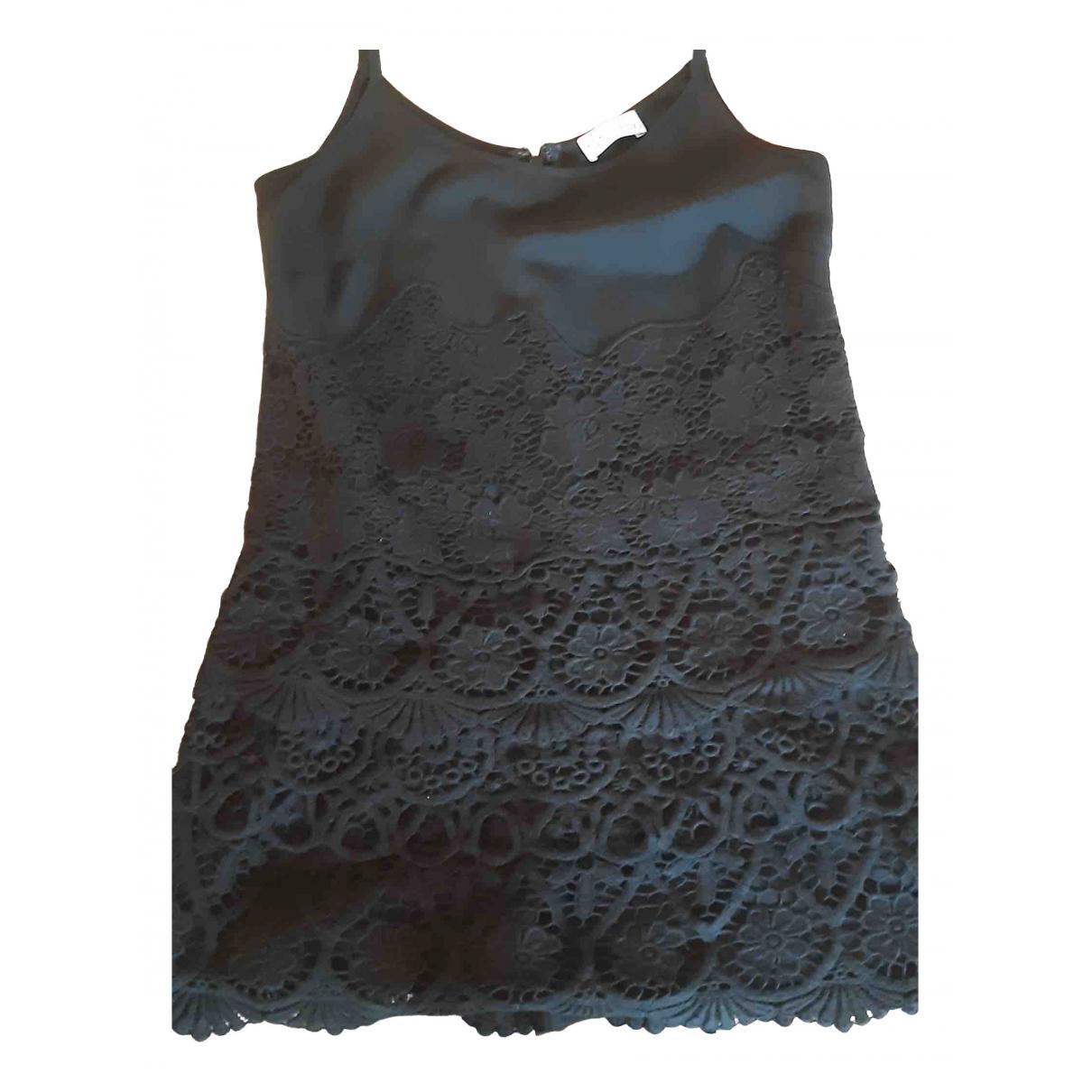 Red Valentino Garavani \N Kleid in  Schwarz Baumwolle