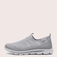 Maenner Slip On Sneakers mit Ausschnitt