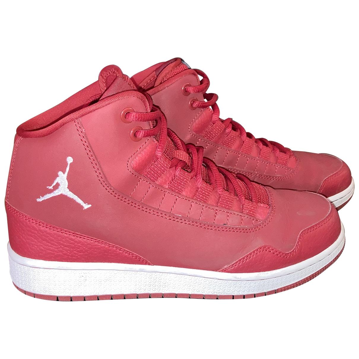 Jordan - Baskets   pour femme en suede - rouge