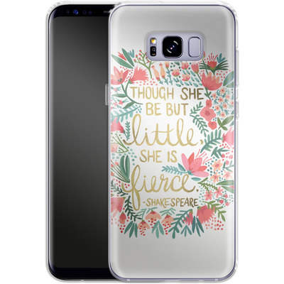 Samsung Galaxy S8 Plus Silikon Handyhuelle - Little But Fierce White von Cat Coquillette