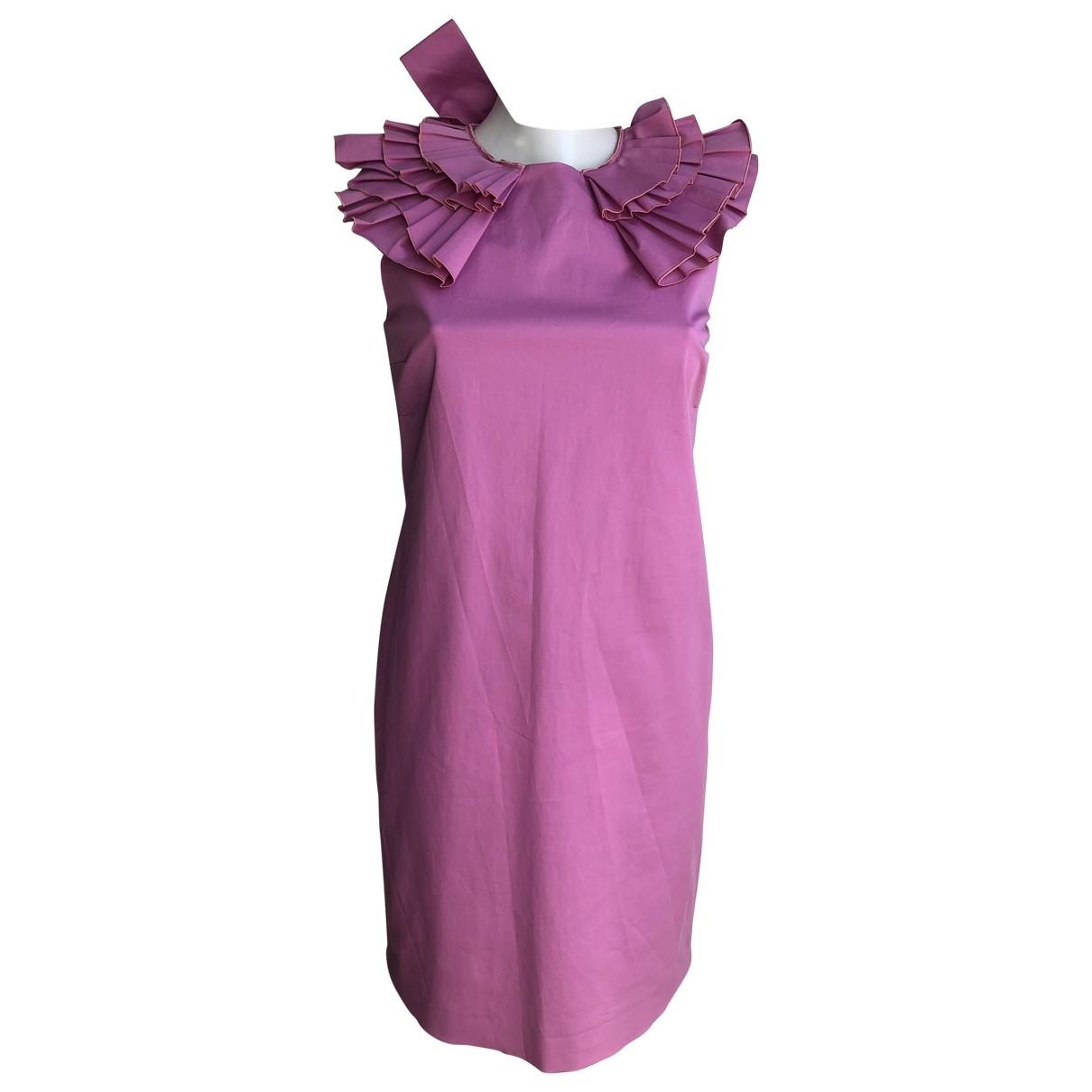 Valentino Garavani \N Pink Cotton dress for Women 40 IT