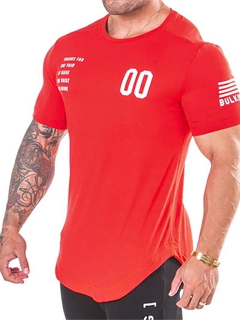 Ericdress Casual Round Neck Short Sleeve Men's Slim T-shirt