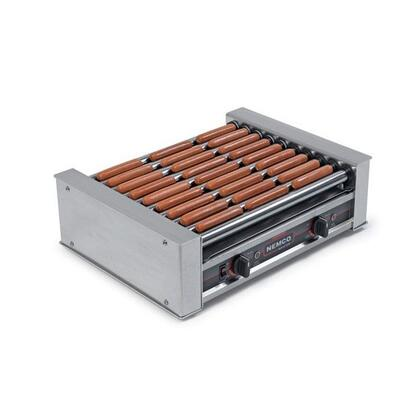8045SXW-230 Wide Hot Dog Roller Grill with GripsIt Non-Stick Coating - 45 Hot Dog Capacity  220V  in