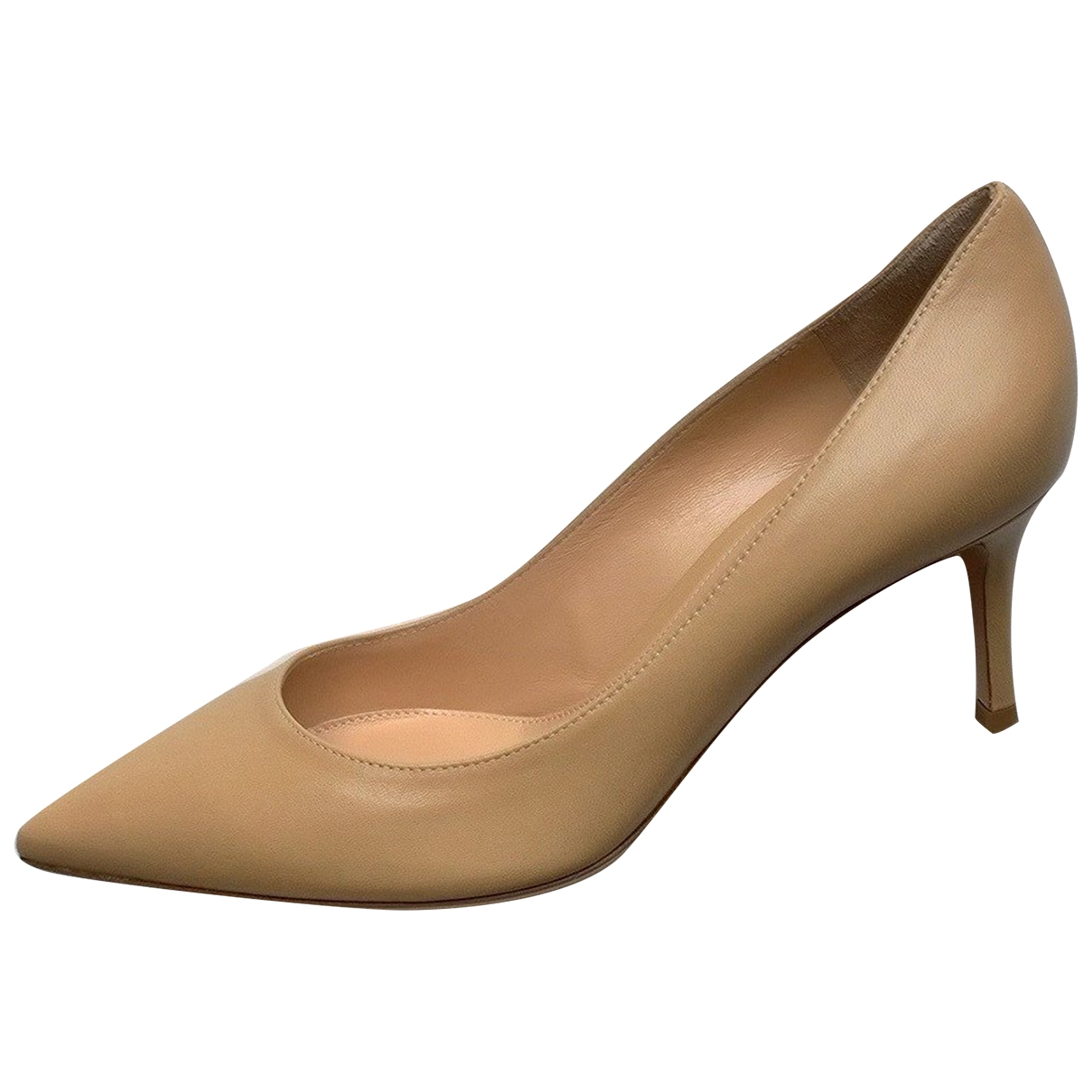 Gianvito Rossi Gianvito Beige Leather Heels for Women 41.5 IT