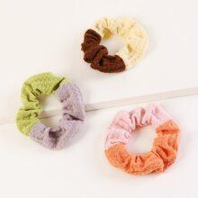 3 piezas goma de pelo con patron de color combinado
