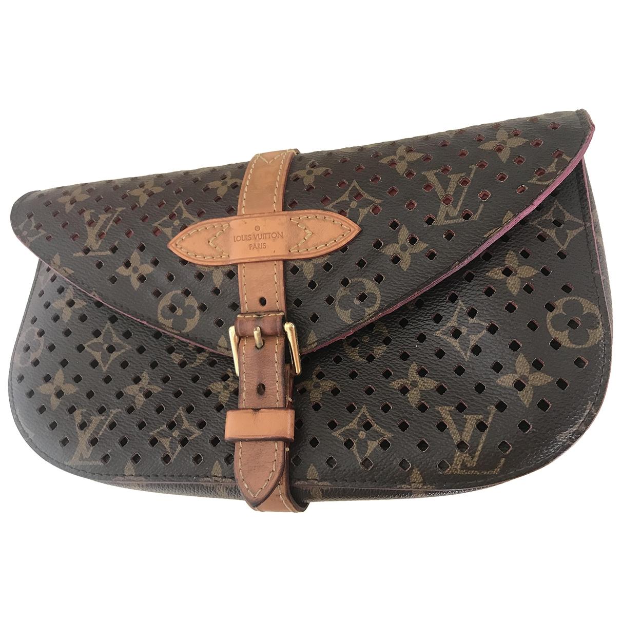 Louis Vuitton Saumur Brown Cloth Clutch bag for Women \N