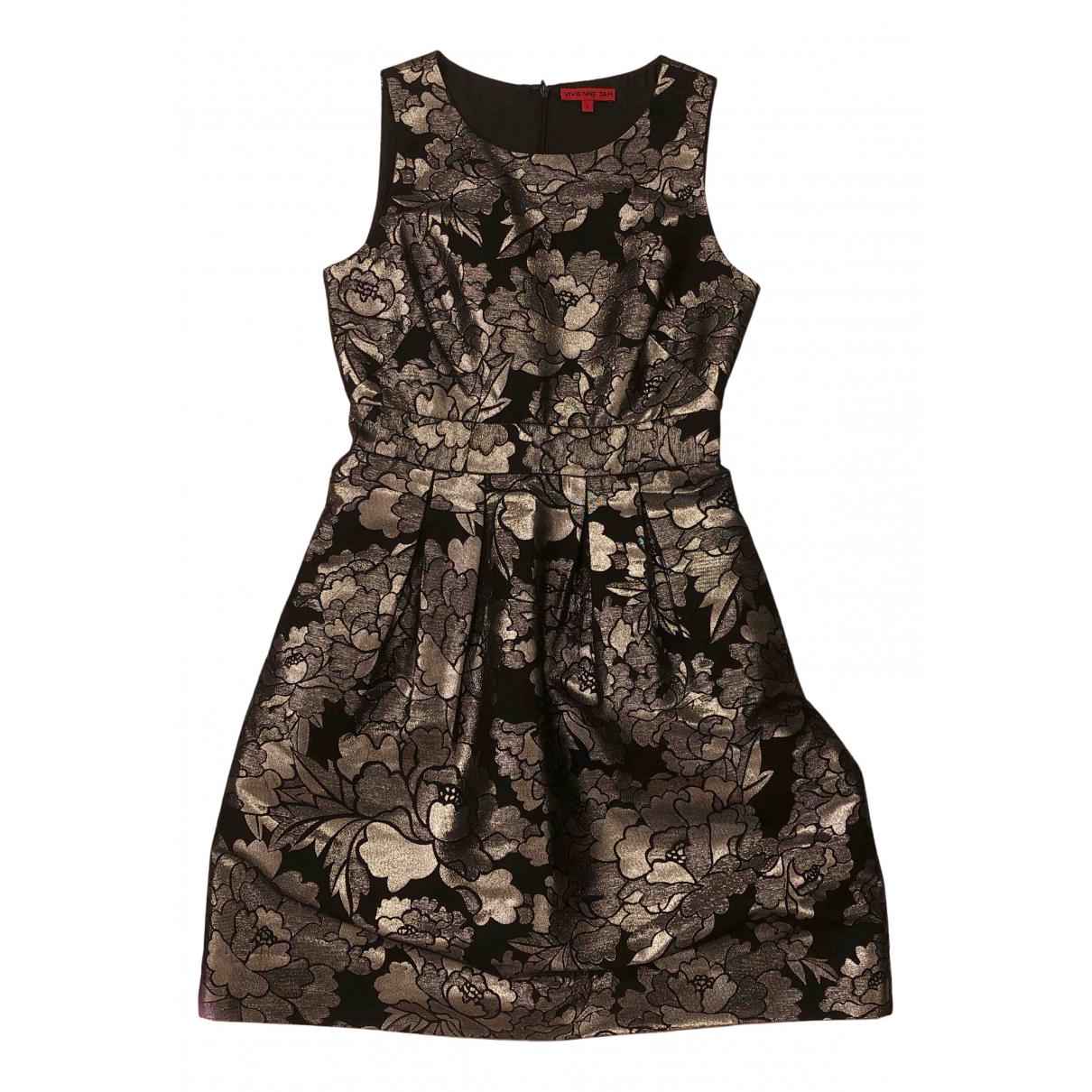 Vivienne Tam \N Kleid in  Metallic Synthetik